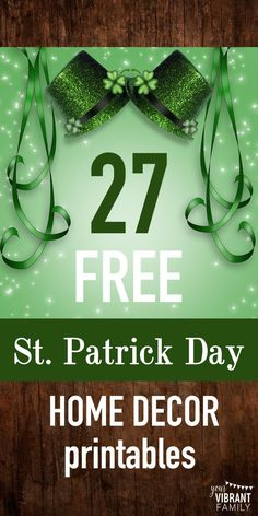 FREE ST PATRICK DAY Home Decor! You'll love this AH-dorable 8 x 10 St Patrick Day printables that are perfect for home decor!