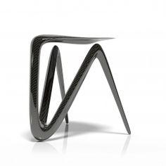 lgb inspiredby objects plum stool design carbon fiber furniture carbon fiber tape furniture