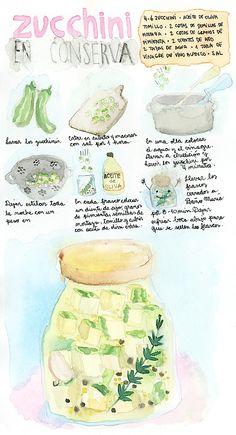 #receta #Zucchini en conserva en Espacio Culinario