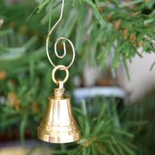 Solid Brass Bell Christmas Tree Ornament