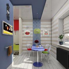 Современная однокомнатная квартира в стиле поп-арт