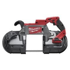 Milwaukee FUEL Cordless Lithium-Ion Deep Cut Band Saw (Tool Only). FUEL Cordless Lithium-Ion Deep Cut Band Saw - Battery System With Jobsite Armor Technology, proprietary composite material and crush zone barriers provide long lasting rugged protection. Milwaukee Tools, Milwaukee M18, Band Saw Reviews, Miter Saw Reviews, Saw 1, Portable Band Saw, Best Circular Saw, Atelier, Accessories