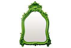 Shell Crown Mirror, Green on OneKingsLane.com