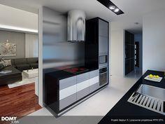 Neptun 5 projekt domu - Jesteśmy AUTOREM - DOMY w Stylu Bathroom Lighting, Kitchen Design, House Plans, Kitchen Cabinets, How To Plan, Mirror, Furniture, Home Decor, Gallery