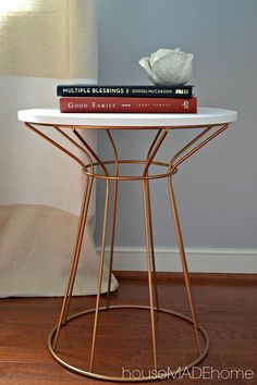 Check out @tyeshat's DIY hack that turns this dorm room side table fit for the home! http://www.thehousemadehome.blogspot.com/2013/08/target-hack-from-dorm-room-to-home-room.html