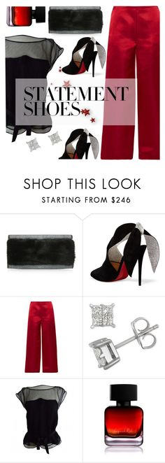 """#PolyPresents: Statement Shoes"" by gabrielleleroy ❤ liked on Polyvore featuring Nancy Gonzalez, Christian Louboutin, The Row, Louis Vuitton and The Collection by Phuong Dang"