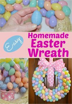 Check out our latest tutorial: Affordable DIY Easter Egg Wreath. We shopped at Hobby Lobby to make this affordable Easte Diy Osterschmuck, Diy Crafts, Easy Diy, Easter Crafts For Toddlers, Easter Ideas, Easter Activities, Easter Recipes, Diy Easter Decorations, Easter Centerpiece
