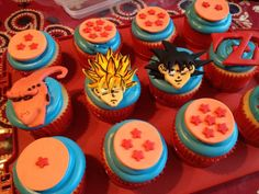 dragon ball z birthday cake toppers Picture Cupcakes For Men, Fun Cupcakes, Wedding Cupcakes, Birthday Cake Toppers, Birthday Cupcakes, Cupcake Toppers, Healthy Cupcake Recipes, Healthy Cupcakes, Birthday Party Snacks