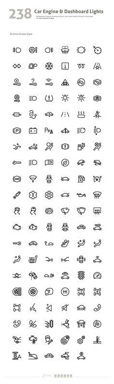Car Engine & Dashboard Lights Symbol - Icons - 2