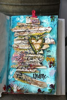 Amazing multi media art journal page!