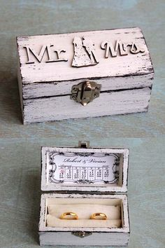 Rustic jewelry box. Ring Bearer Box Wedding ring box by ArtDidi