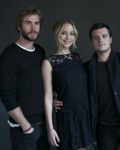 Liam Hemsworth, Jennifer Lawrence et Josh Hutcherson - Quarter Quell