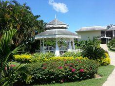 Gazebo in lovely garden setting