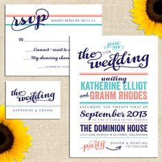 Grahm Wedding Invitation Suite by YellowBrickGraphics on Etsy, $35.00