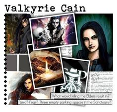 """""""Valkyrie Cain"""" by bluetidegirl ❤ liked on Polyvore featuring art"""