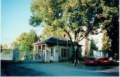 Gibbs Kaserne Front Gate in Frankfurt, former Army M.P. base .