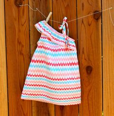 One shoulder dressy dress - A tutorial from Prudent Baby