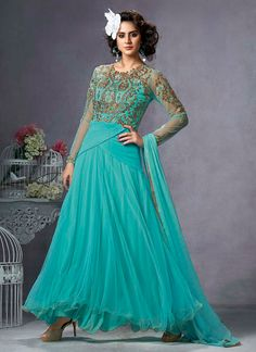 Flattering Zari Work Anarkali Suit  Email - support@ethnicoutfits.com Call - +918140714515 What's app / Viber - +918141377746