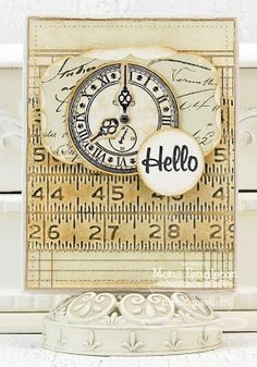 card MFT clock - Timeless stamp set MFT dienamics Time Pieces die set - Papercraft Star: Challenge 161  #clock