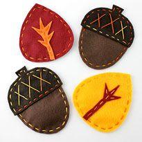 Happy Stitch ~ Giveaway   Autumn Felt Coaster Project