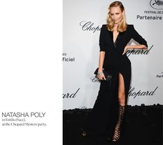 Nathasha Poly in Emilio Pucci, like the dress but not the shoes..