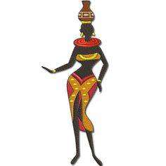 African Ladies  African Lady 2  AFL2.  Machine by Embroidershoppe, $3.00