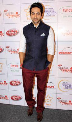 Ayushmann Khurrana Nehru Jacket For Men, Nehru Jackets, Indian Men Fashion, Mens Fashion Blog, Wedding Men, Wedding Suits, Wedding Dress, Mens Traditional Wear, Modi Jacket
