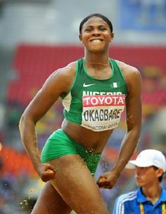 Nigerian Athlete Blessing Okagbare beats Usain Bolt to Guinness World Record - http://www.thelivefeeds.com/nigerian-athlete-blessing-okagbare-beats-usain-bolt-to-guinness-world-record/