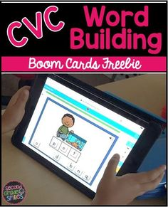 Looking for self checking word work centers? Try out this free Boom Card sample! These self checking word building digital task cards are perfect practice for first and second graders! Word Work Games, Word Work Centers, Classroom Routines, Classroom Freebies, Kindergarten Literacy, Literacy Activities, Teaching Second Grade, Teaching Vocabulary, Word Building