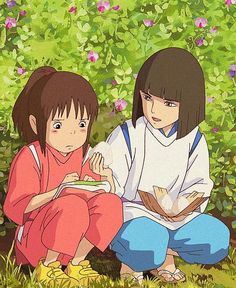 Spirited Away-Haku and Chihiro, studio ghibli - ILLUSTRATION (Daily)