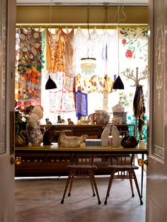 Meet Stylist + Author Emily Chalmers | decor8....scarf curtain