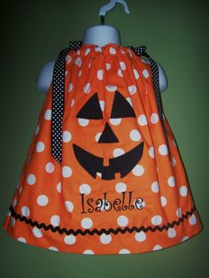 HALLOWEEN PUMPKIN Pillowcase Dress