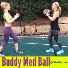 Grab a friend and a medicine ball for this buddy toning workout from Chris Freytag! Do intervals with these four exercises to burn calories and gain strength!
