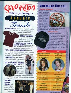 Seventeen Magazine, January 1994 | Flickr - Photo Sharing!