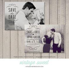 Save the Date Card / Magnet / Postcard (Printable DIY) by Vintage Sweet Design On Etsy  {$12.00}   vintagesweetdesigns.etsy.com