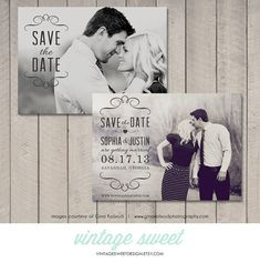 Save the Date Card / Magnet / Postcard (Printable DIY) by Vintage Sweet Design On Etsy  {$12.00}   vintagesweetdesigns.etsy.com