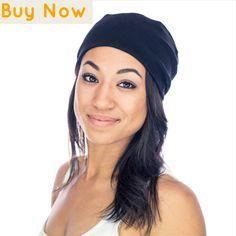 08f79a6a72b33 Grace Eleyae SLAPs - Black - Womens Soft Slouchy Satin Lined Beanie      Check out this great product.