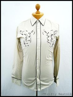 Vintage 1970s 70s Western Disco Yoke Amazing One-Off Shirt Small | eBay