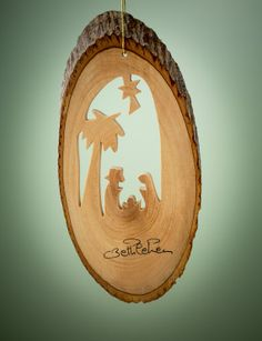 Beautiful olive wood nativity ornament. Getting ready for Christmas!