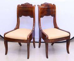 Set of Six Russian Neoclassic Mahogany Dining or Side Chairs 2