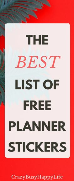 This is the best list of free printable planner stickers. Use these in any personal planner, scheduler, or agenda. Make your calendar pretty! You can use them in the Happy Planner, Erin Condren, Kate Spade, the Freedom Journal, Bullet Journal, A5, Filofax, whatever! Click through or pin now and read later.