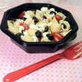 Elizabeth's Greek Pasta Salad with pasta shells. For more creative ideas for kids lunches visit https://www.facebook.com/SchoolLunchIdeas you may find something you 'LIKE'
