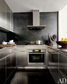 Hot rolled and stainless steel kitchen