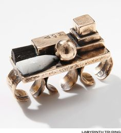 MANIAMANIA labyrinth ring - lifestylerstore - http://www.lifestylerstore.com/maniamania-labyrinth-ring/