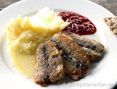 Stekt strömmingsflundra med potatismos