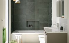 Build in a box shelf into the bath in ensuite - Bathroom Inspiration Bunnings