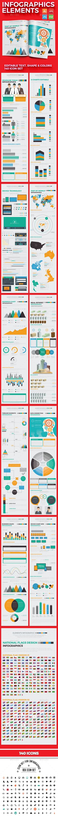 Buy Infographics Elements by mamanamsai on GraphicRiver. Infographics Set Files Include: AI – 2 AI Files for Illustrator CS, Illustrator EPS – 2 EPS Files for Ill. Infographics Design, How To Create Infographics, Timeline Infographic, Infographic Templates, Graphic Design Typography, Graphic Design Art, Flow Chart Design, Illustrator Cs, Info Graphics
