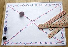 Yutnori game… DIY (traditional Korean game) I am going to make this with my ki… Yutnori game… DIY (traditional Korean game) I am going to make this with my kids tomorrow as part of an integrated culture lesson Family Board Games, Board Games For Kids, Activities For Kids, Crafts For Kids, Arts And Crafts, Indoor Activities, Math Games, Fun Games, Maths