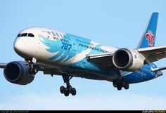 China Southern Airlines Boeing 787-8 Dreamliner (registered B-2725) landing at London-Heathrow