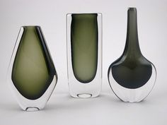 art glass | DUSK SERIES vases by Nils Landberg for Orrefors